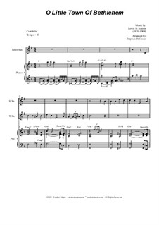O Little Town of Bethlehem: For Duet for Soprano and Tenor Saxophone by Lewis Henry Redner
