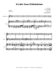 O Little Town of Bethlehem: For Woodwind Quartet and Piano by Lewis Henry Redner