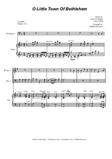 O Little Town of Bethlehem: For Brass Quartet and Piano - Alternate Version by Lewis Henry Redner
