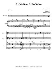 O Little Town of Bethlehem: For Duet for Bb-Trumpet by Lewis Henry Redner