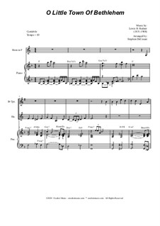 O Little Town of Bethlehem: For Duet for Bb-Trumpet and French Horn by Lewis Henry Redner