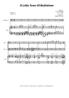O Little Town of Bethlehem: For Trombone Duet by Lewis Henry Redner