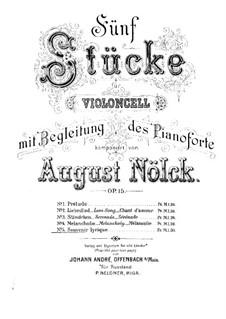 Five Pieces, Op.15: No.5 Souvenir lyrique – Score by August Nölck