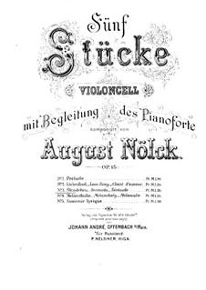 Five Pieces, Op.15: No.3 Serenade – Score by August Nölck