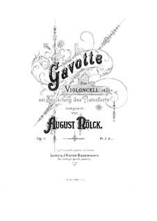 Gavotte, Op.7: Parte de solo by August Nölck