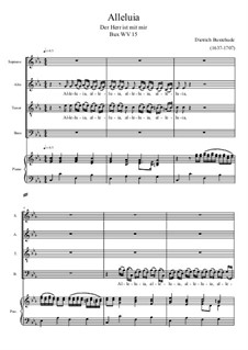 Alleluja: para coral e piano by Dietrich Buxtehude