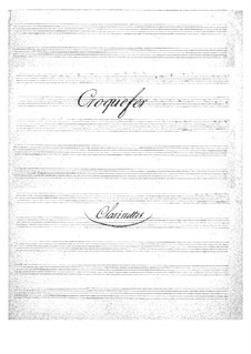 Croquefer: parte clarinetes by Jacques Offenbach