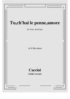 Tu, ch'hai le penne, Amore: B flat minor by Giulio Caccini