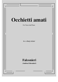 Occhietti amati: C sharp minor by Andrea Falconieri