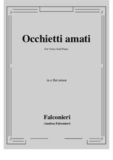Occhietti amati: E flat minor by Andrea Falconieri