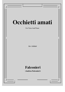 Occhietti amati: E minor by Andrea Falconieri