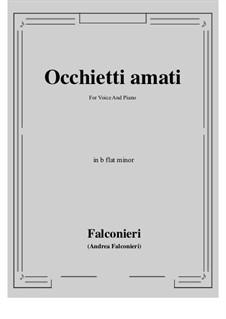 Occhietti amati: B flat minor by Andrea Falconieri
