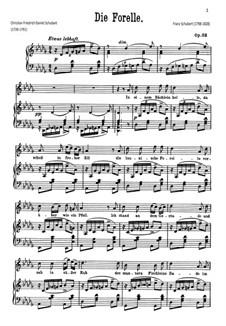 Die Forelle (The Trout), D.550 Op.32: Para vocais e piano by Franz Schubert