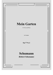 Songs and Romances, Op.77: No.2 Mein Garten (b minor) by Robert Schumann
