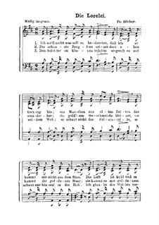 Die Lorelei: para coro by Friedrich Silcher