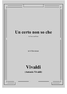 Un certo non so che: B flat minor by Antonio Vivaldi