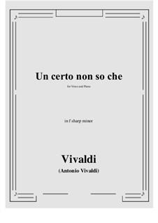 Un certo non so che: F sharp minor by Antonio Vivaldi