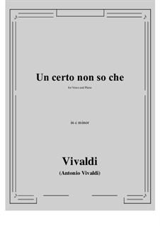 Un certo non so che: C minor by Antonio Vivaldi