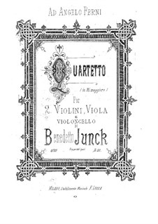 String Quartet in E Major: String Quartet in E Major by Benedetto Junck