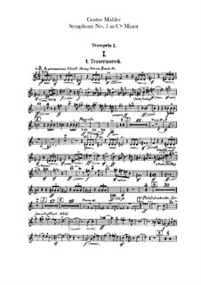 Symphony No.5 in C Sharp Minor: parte trompetas by Gustav Mahler