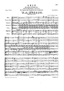 Per pietà, bell'idol mio, K.78: Per pietà, bell'idol mio by Wolfgang Amadeus Mozart