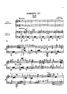 Concerto for Piano and Orchestra No.1 in D Minor, Op.15: Movimento I. Versão para dos piano de quatro maõs by Johannes Brahms