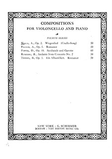 Cradle Song, Op.2: Score by August Nölck