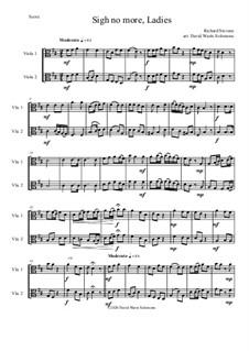Sigh no more, Ladies: For 2 violas by Richard Stevens