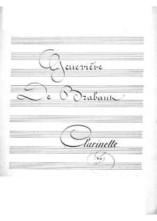 Geneviève de Brabant: parte clarinete by Jacques Offenbach