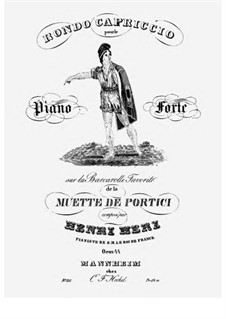 Rondo-Capriccio on 'La Muette de Portici' by Auber, Op.44: Para Piano by Henri Herz