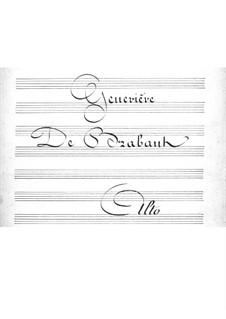 Geneviève de Brabant: parte violas by Jacques Offenbach
