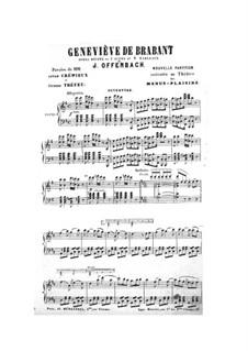 Geneviève de Brabant: Partitura Piano-vocal by Jacques Offenbach