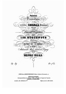 Fantasia on Theme from 'Les huguenots' by Meyerbeer, Op.89: Para Piano by Henri Herz