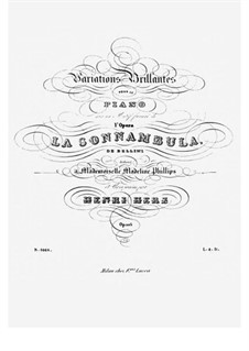 Variations Brilliantes on Themes from 'La Sonnambula' by Bellini, Op.105: Para Piano by Henri Herz