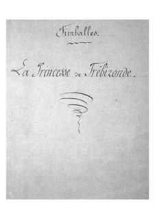 La princesse de Trébizonde: Peça para Timpano by Jacques Offenbach