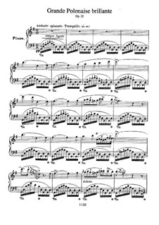 Andante spianato and Grand Brilliant Polonaise, Op.22: Para Piano by Frédéric Chopin