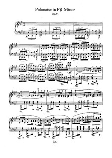 Polonaise in F Sharp Minor, Op.44: Para Piano by Frédéric Chopin