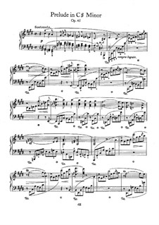 Prelude in C Sharp Minor, Op.45: Para Piano by Frédéric Chopin