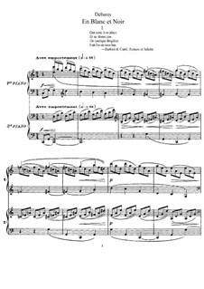 En blanc et noir (In Black and White), L.134: dois pianos de quatro mãos by Claude Debussy