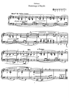 Homage to Haydn, L.115: Para Piano by Claude Debussy