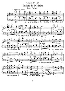 Two Furiants, B.85 Op.42: set completo by Antonín Dvořák