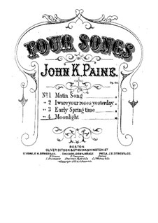 Four Songs, Op.29: No.4 Moonlight by John Knowles Paine