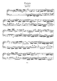 Fantasia in C Minor, BWV 919: Para Piano by Johann Sebastian Bach