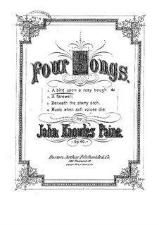A Bird upon a Rosy Bough, Op.40 No.1: A Bird upon a Rosy Bough by John Knowles Paine