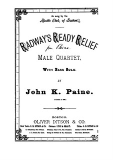 Radway's Ready Relief: Radway's Ready Relief by John Knowles Paine