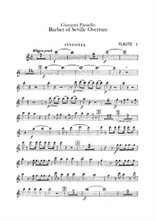 The Barber of Seville, R 1.64: abertura - parte flautas by Giovanni Paisiello