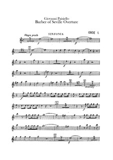 The Barber of Seville, R 1.64: abertura - Oboes Parte by Giovanni Paisiello