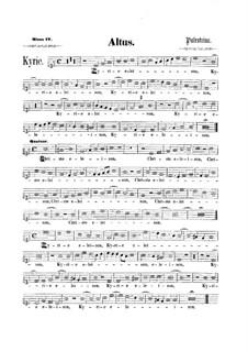 Assumpta est Maria: parte contralto by Giovanni da Palestrina