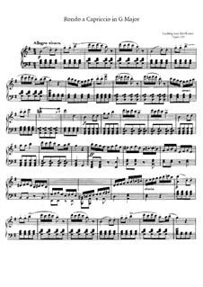 Die Wut über den verlorenen Groschen (The Rage Over the Lost Penny), Op.129: Para Piano by Ludwig van Beethoven