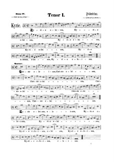 Assumpta est Maria: Tenor I part by Giovanni da Palestrina